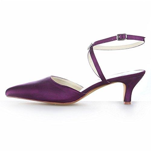 Violet Jia Bout Talon Mariage Pointu Chaussures Bas En Femme Satin Sandales Mariée Pour 5354 De 6Oz6rwqYR