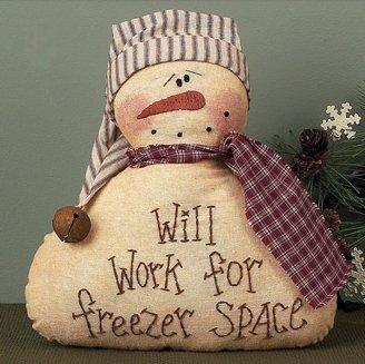 Congelador Espacio Decorativa de muñeco de Nieve por Miel y me ...