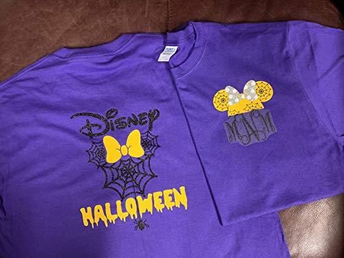 Handmade Halloween Personalized Shirt Family Matching Shirt Minnie