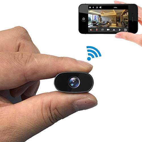 PNZEO Mini Hidden Camera 1080P HD Tiny IP Camera Video Recorder 140° Wide-View-Angle Wireless WiFi Spy Camera Security Camera Remote View Motion Detection