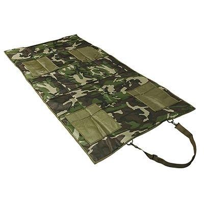 con Diana compacta y Ligera para Acampar Accesorios Militares Antideslizante 19 Pulgadas Color Verde Meetgre Esterilla de Tiro con Acolchado Enrollable Caza Resistente al Agua