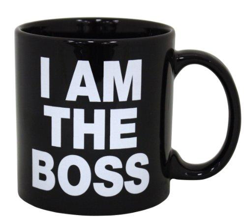 Island Dogs Giant I am The Boss Mug, Black