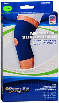 Sport Aid Neoprene Slip-On Knee Support XL - 1 ea., Pack of 4