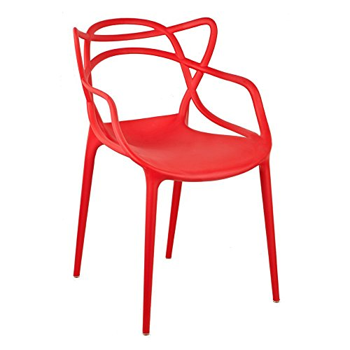 Gold Sparrow Gabriel Stackable Accent Arm Chair, Red
