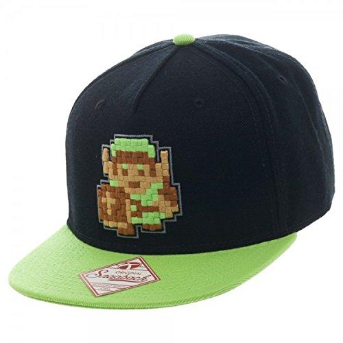 Official Retro Legend of Zelda 8Bit Pixel Link Snapback Cap Hat One Size