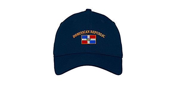 Speedy Pros Barbados Flag Seal Embroidery Twill Cotton 6 Panel Low Profile Hat Navy