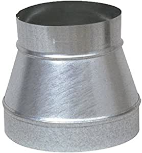 """Single Wall Galvanized Metal Duct Reducer 10"""" to 6"""" / 10"""" x 6"""""""