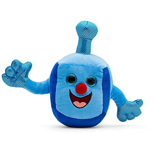 Funny Gifts Hanukkah - Aviv Judaica Plush Dreidel Toy - Musical Dreidel - Plays Two Dreidel Songs - Hanukkah Gifts for Kids