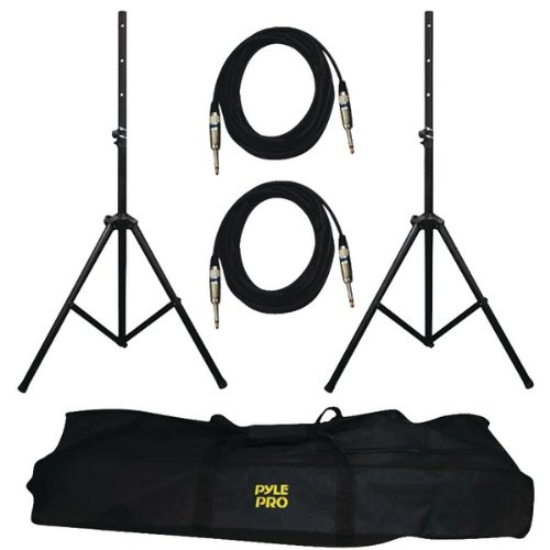 PYLE PRO PMDK102 Heavy-Duty Pro Audio Speaker Stand & .25'' Cable Kit