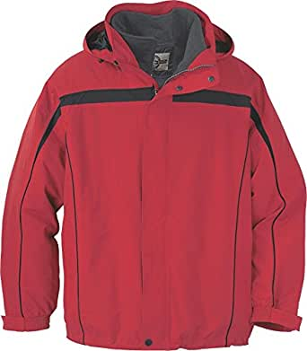 Ash City Mens 3-In-1 Jacket With Detachable Jacket Liner_Molten Red w/Black_S