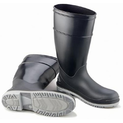Bata Shoe 89682-8 Onguard Industries Size 8 Goliath Black Polyblend Chemical Resistant Knee Boots With Power-Lug Outsole, Steel Toe And Removable Insole ()