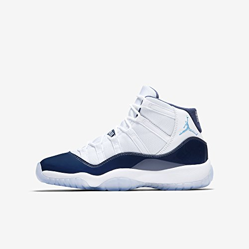 Jordan Air 11 Retro BG Win Like 82 casual sneakers big kids white/university blue New 378038-123 - 6 by Jordan