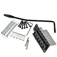 Black Tremolo Bridge for Strat Electric Guitar SET Replacement