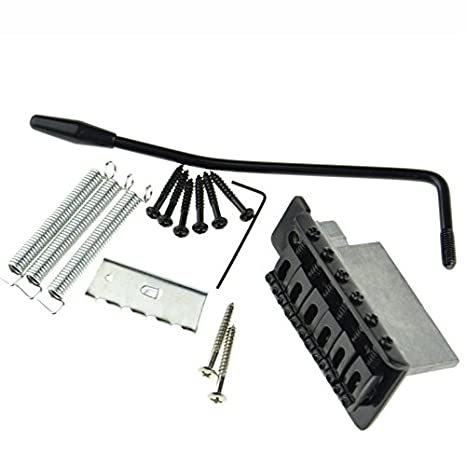 Juego de repuesto de puente trémolo para guitarra eléctrica, color negro: Amazon.es: Instrumentos musicales
