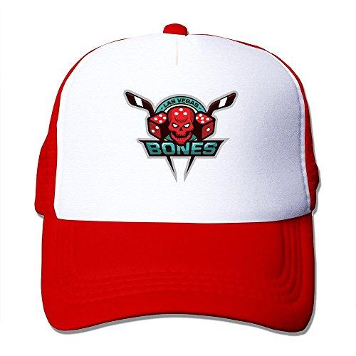 Red HGLENice Las Vegasbones Make Your Bones Unisex Adjustable Baseball Mesh Cap One Size