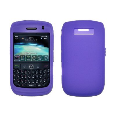 Premium Soft Silicone Gel Skin Case Cover for Blackberry Curve 8900 Javelin (Choose from 7 colors; Blue, Clear, Pink, Red, Black, Lavender, Purple) (Purple) - Cover Blackberry Javelin