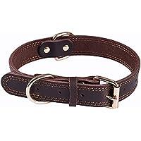 Leren halsbanden voor honden, leren halsbanden voor middelgrote en grote honden, leren halsband voor honden.