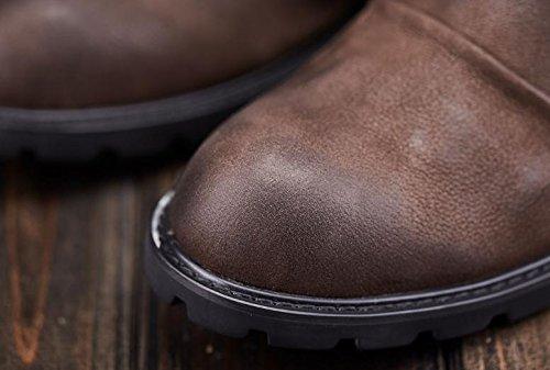 Botas de invierno hombre para ayudar a las botas de nieve al aire libre de felpa c¨¢lida coffee