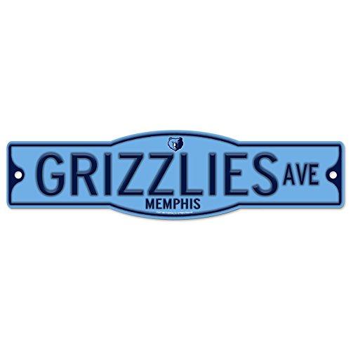 Memphis Grizzlies 4'' x 17'' Plastic Street Sign NBA by WinCraft
