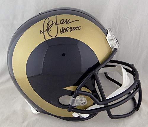 (Marshall Faulk Autographed F/S St. Louis Rams 00-16 TB Helmet W/HOF- JSA W Auth)