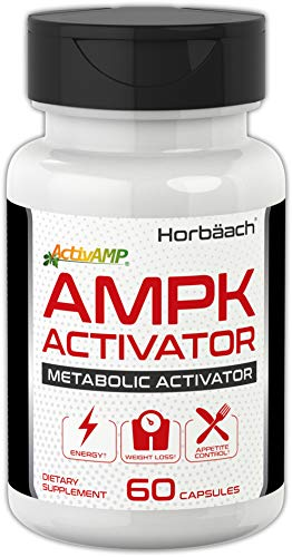 (Horbaach AMPK Metabolic Activator 450 mg (60 Capsules) | Supports Weight Management | Non-GMO, Gluten Free | Jiaogulan Gynostemma)
