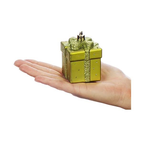 com-four® Set di 10 ciondoli per Albero di Natale, Decorazioni per Alberi di Natale a Prova di Rottura a Forma di Coni Decorazioni Natalizie 5 spesavip