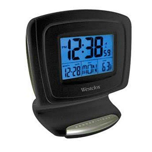 Westclox Digital LCD Alarm Clock with Date and Temperature