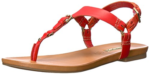 ALDO Women's Joni Flat Sandal, Red Miscellaneous, 7.5 B US