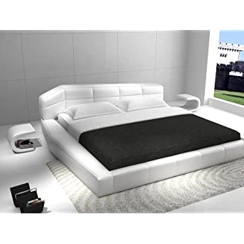 Ju0026M Furniture Dream White Leather Queen Size Bedroom Set