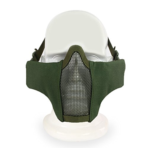 Mortal Kombat 9 Scorpion Costumes (Tactical Airsoft Mask ,YASHALY Adjustable Outdoor Strike Camouflage Protective Metal Mesh Half Face Mask For CS/Hunting/Paintball/Shooting (MA-42-09, Adjustable))