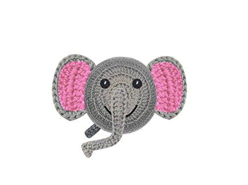Tape Measure, Fun Handmade Crochet Designed Animals (Pink Elephant)