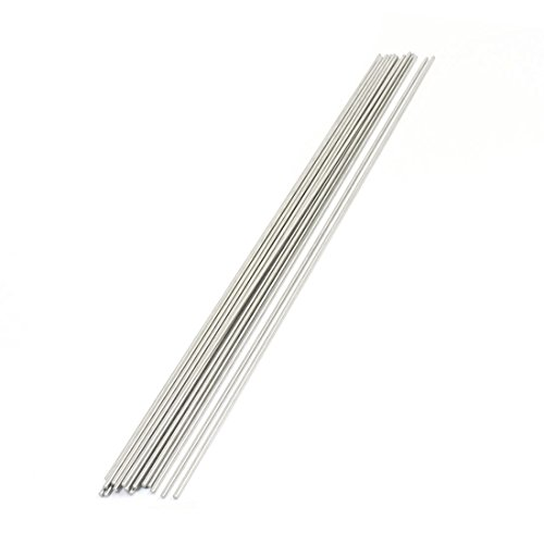 Uxcell Stainless Steel Round Bar (20 Piece), 300mm x 2mm