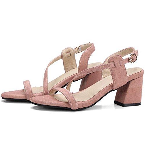 Tacon Zanpa Mujer Strappy Sandals Pink Clasico BZIfrqZ