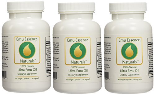 Emu Essence Ultra Emu Oil Dietary Supplements - 3 Pack by Emu Essence