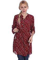 بلوزة طويلة كم طويل للنساء من انديامو - متعدد الالوان