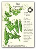 Peas Sugar Snap Certified Organic Seeds 85 Seeds