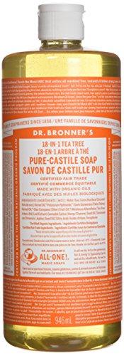 Dr. Bronner's Pure-castile Liquid Soap - Fair Trade & Organic 1 Count , Tea Tree, 32 Ounce
