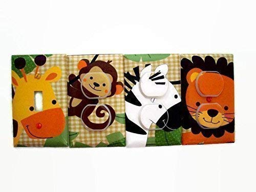 (Jungle Buddies Animals Switch Plate Cover and Outlet Covers (Set 4))