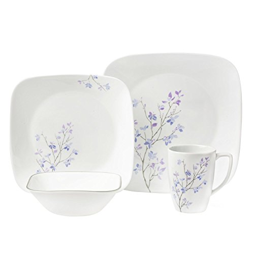 World Kitchen Corelle Square 16-Piece Dinnerware Set, Jac...