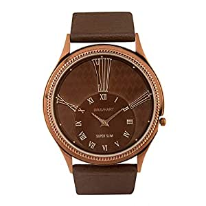 Bravhart Super Slim Luxury Male Brown Roman No Watch(BHW2017G4)