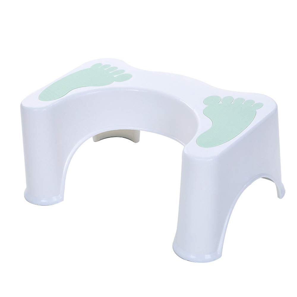 Thick Plastic Toilet Seat Footstool Anti-Skid Bathroom Stools Children Pregnant Women Toilets Increased Toilet Feet Feet God (Color : Blue)