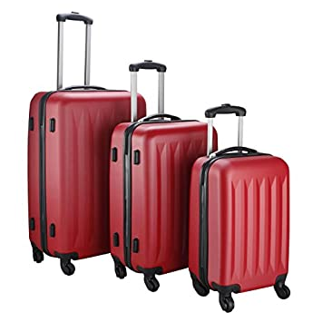 Amazon.com: New 3 Pcs Luggage Travel Set Bag ABS Trolley Suitcase ...