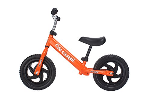 YBL Children's baby two rounds movement Balance Bike for No pedal bicycle Suitable for 2-6 years old Boys girls Carbon Steel Frame Adjustable Handlebar and Seat (Orange) - Carbon Steel Handlebars