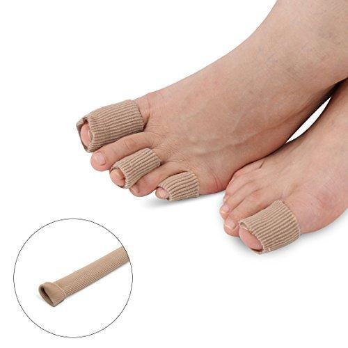 DealMux 12センチメートルの長さのカルス水疱外反母趾ジェルが足チューブキャッププロテクター包帯を裏地   B072TR4M5D