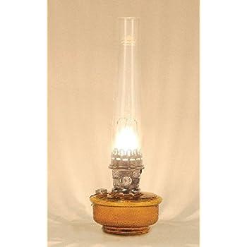 Aladdin deluxe genie iii brown translucent w nickel mantle maxbrite oil lamp c6108n