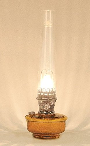 Aladdin Deluxe Genie III Brown Translucent W/Nickel Mantle Maxbrite Oil Lamp C6108N