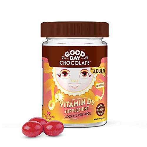 Good Day Chocolate Vitamin D3 Supplement (80 Count)