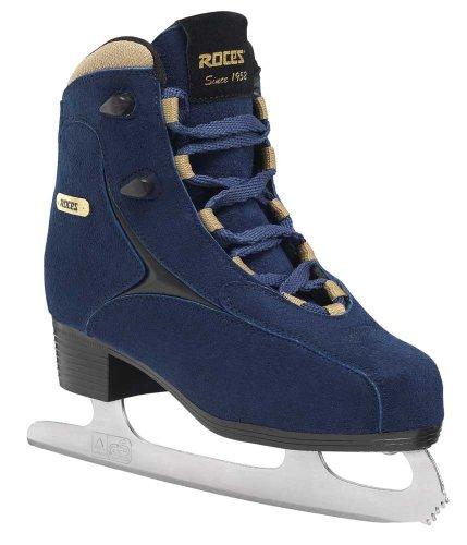 Roces 450617 Women's Model Caje Ice Skate, US 6.5, Blue/Gold ()
