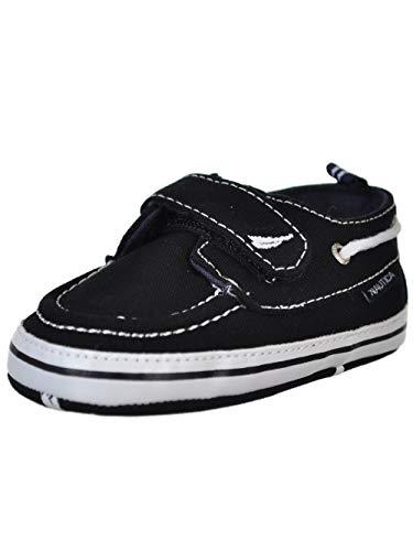- Nautica Tiny River 2, Baby Prewalker,Velcro Crib Sneakers,Soft Sole Shoes-BLACK-4