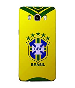 ColorKing Football Brazil 09 Yellow shell case cover for Samsung J5 2016